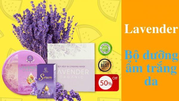 serum và mặt nạ dưỡng da Lavender