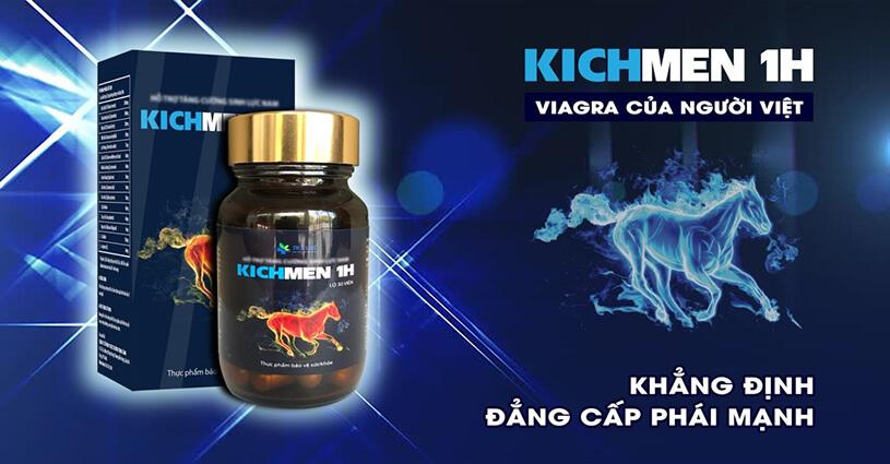 Kichmen 1h – Giải pháp hoàn hảo tăng cường sinh lý nam