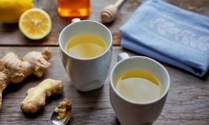 Cách nấu trà gừng trị cảm cúm