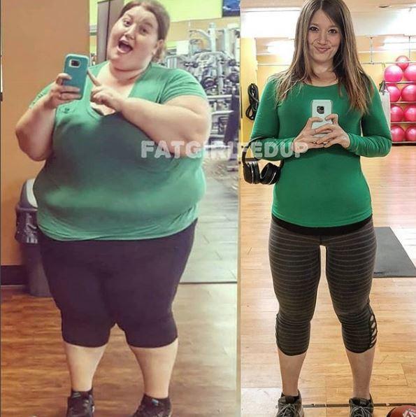 Trước khi giảm cân, Lexi nặng tới 220kg và có một vóc dáng đồ sộ