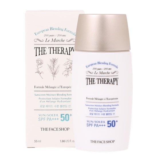 Kem Chống Nắng the face shop THE THERAPY SUNSCREEN MOISTURE BLENDING FORMULA SPF50
