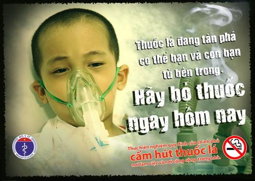 Cai thuốc lá Hoa Nam bảo vệ con bạn