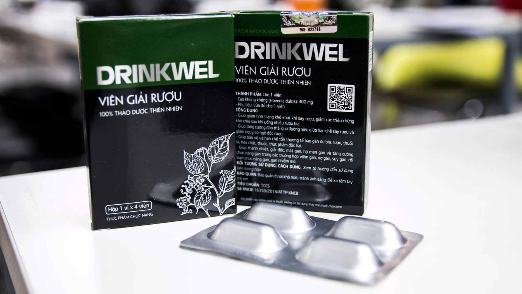 Viên giải rượu Drinkwel