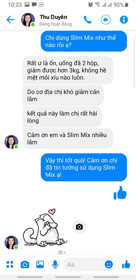 review giam can slim mix 1