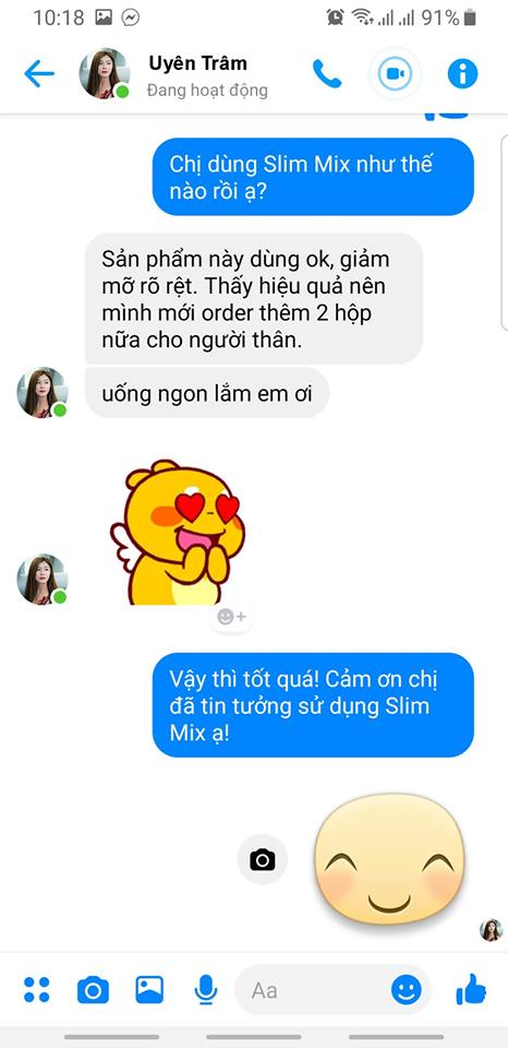 review giam can slim mix 3
