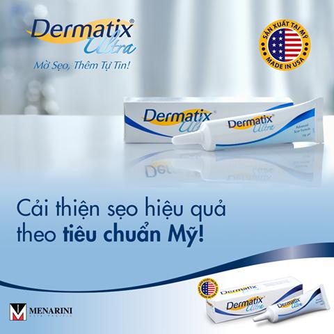 Kem trị sẹo Dermatix Ultra của Mỹ