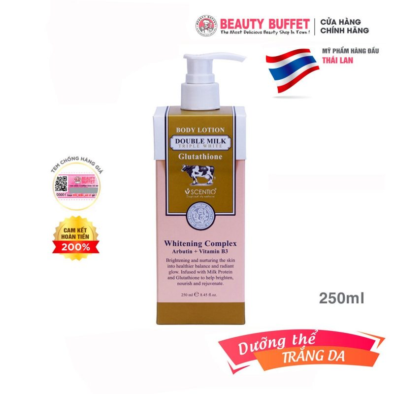 Dưỡng thể trắng da Scentio Double Milk Beauty Buffet
